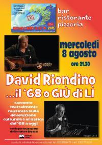 David Riondino ed il suo 68. Pontassieve, 8 agosto 2018