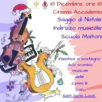 Concerto di Natale della Scuola Maltoni. Mercoledì 18 dicembre 2019 ore 18 a Cinema Accademia di Pontassieve