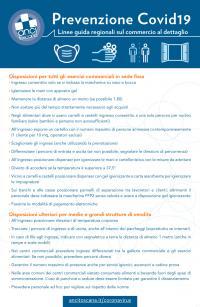 Linee guida regionali sul commercio al dettaglio. Ordinanza RT 100/2020