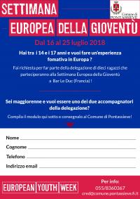 Settimana europea della gioventù. 16-25 luglio 2018 a Bar Le Duc